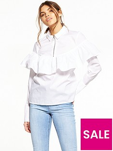 noisy-may-taylor-long-sleeve-frill-shirt-brilliant-white