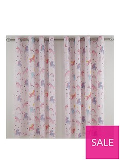 catherine-lansfield-magical-unicorns-eyelet-curtains