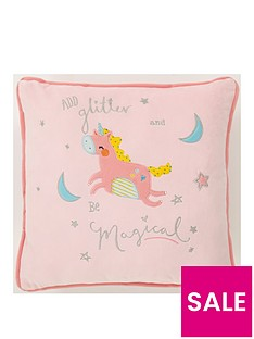 catherine-lansfield-magical-unicorns-square-cushion