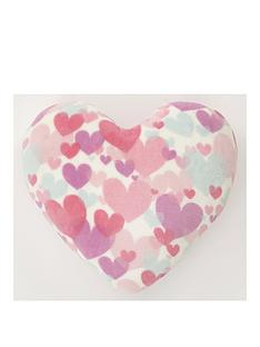 catherine-lansfield-pastel-hearts-shaped-cushion