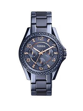 fossil-fossil-riley-blue-ip-stainless-steel-bracelet-ladies-watch