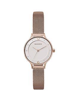 skagen-skagen-anita-nude-stainless-steel-mesh-bracelet-ladies-watch