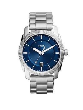 fossil-fossil-machine-blue-dial-stainless-steel-bracelet-men039s-watch