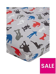 catherine-lansfield-skaters-cotton-rich-fitted-sheet