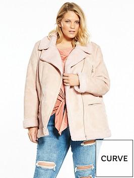 v-by-very-curve-faux-shearling-biker-jacket-blush