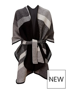 v-by-very-check-belted-cape