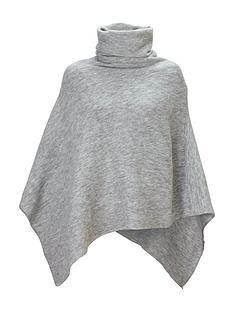 v-by-very-cowl-neck-poncho-grey