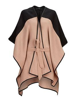 v-by-very-two-tone-belted-cape