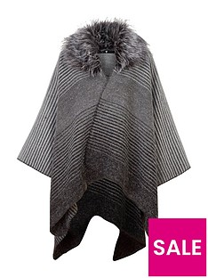 v-by-very-multi-stripe-belted-cape-with-faux-fur-collar