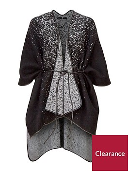 v-by-very-abstract-spot-belted-cape