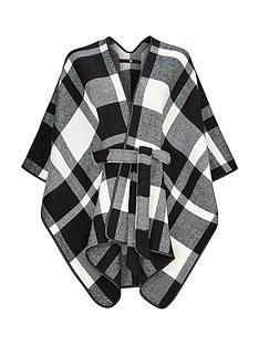 v-by-very-monochrome-check-belted-cape