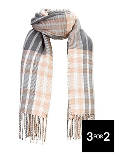 v-by-very-reversible-check-midweight-scarf