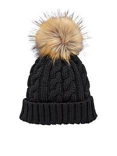 v-by-very-chunky-cable-knit-pom-pom-beanie-black