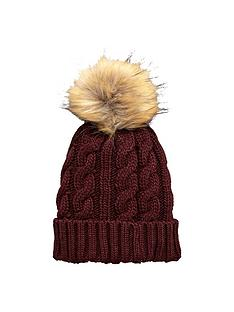 v-by-very-chunky-cable-knit-pom-pom-beanie-wine