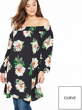 ax-paris-curve-bardot-floral-blouse