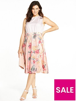 ax-paris-curve-2-in-1-fit-and-flare-midi-dress-peach-floral-print