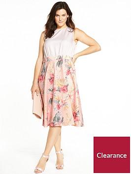 ax-paris-curve-2-in-1-fit-and-flare-midi-dress-peach-floral-print