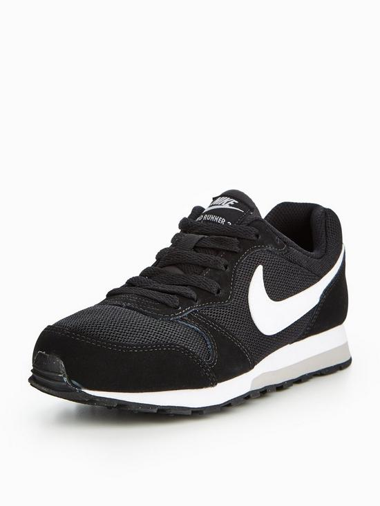 detailed look 190fb eab2b Nike MD Runner 2 Junior Trainer - Black White