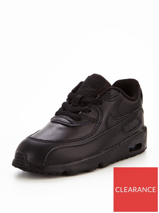 Air Max 90 Leather Infant Trainers Black