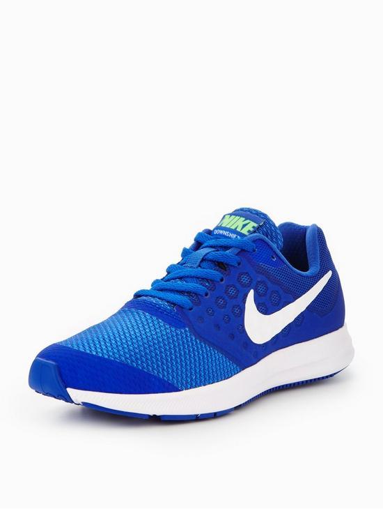 Nike Downshifter 7 Junior Trainers Blue/White dPsSTT