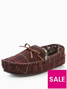 totes-isotoner-totes-check-moccasin-slipper-with-memory-foam