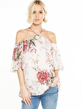 river-island-river-island-floral-high-neck-cold-shoulder-top