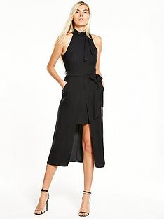 river-island-river-island-black-tie-neck-waisted-dress