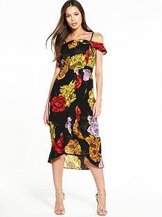 river-island-printed-waisted-dress