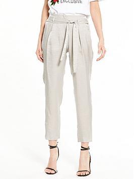 river-island-metallic-taperd-trouser