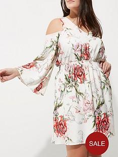 river-island-ri-plus-printed-cold-shoulder-dress