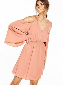 river-island-long-sleeve-pink-dress