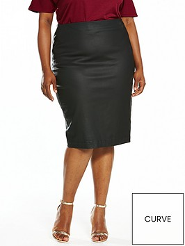 v-by-very-curve-body-sculpt-coated-zip-skirt-black