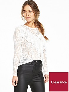 v-by-very-petite-ruffle-front-lace-top-ivory