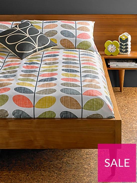 18af896c0c Orla Kiely House Scribble Stem Cotton 200 Thread Count Duvet Cover ...