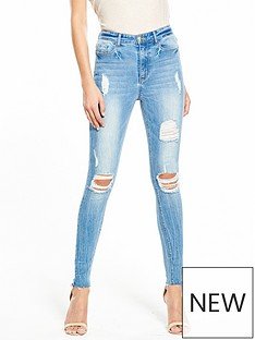 v-by-very-ella-high-waist-rip-raw-hem-skinny-light-wash