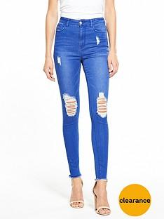 v-by-very-ella-high-rise-rip-knee-skinny-fresh-blue
