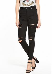 v-by-very-short-addison-highwaist-super-skinny-multi-slash-jean