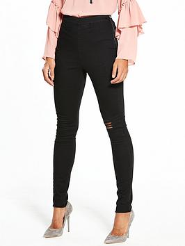 v-by-very-charley-high-waist-slash-knee-side-zip-jegging-black