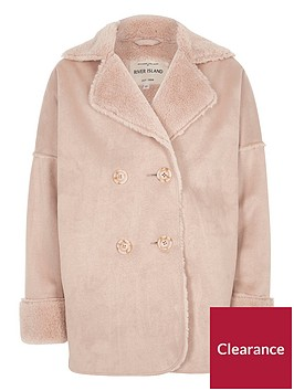 river-island-girls-pink-faux-shearling-coat