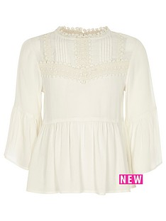 river-island-girls-cream-peplum-bell-sleeve-top