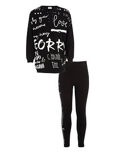 river-island-girls-black-graffiti-print-sweatshirt-outfit