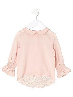 river-island-mini-girls-pink-peter-pan-collar-lace-top