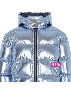 river-island-girls-blue-foil-hooded-padded-jacket