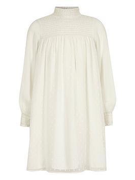 river-island-girls-white-shirred-high-neck-trapeze-dress