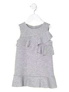river-island-mini-girls-grey-ruffle-jersey-shift-dress