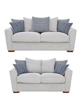 Bloom Fabric 3-Seater + 2-Seater Sofa Set (Buy And Save!)