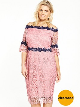paper-dolls-curve-all-over-lace-bardot-dress-pink