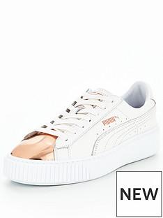 puma-basket-platform-metallic-whitegoldnbsp