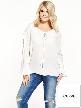 v-by-very-curve-ruffle-lace-insert-blouse-ivory