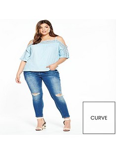 v-by-very-curve-lace-trim-bardot-top